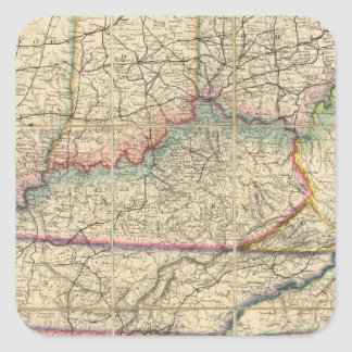 Map of The Southern States of America Square Sticker