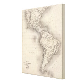 Map of the Spanish Empire in the Americas Canvas Print