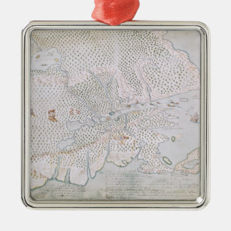 Map of the St. Lawrence Estuary 2 Christmas Ornament
