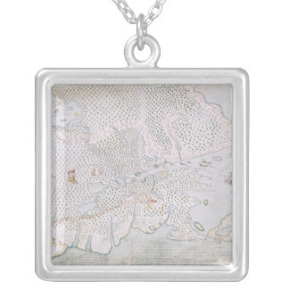 Map of the St. Lawrence Estuary 2 Silver Plated Necklace