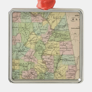Map of the State of Alabama 2 Christmas Ornament