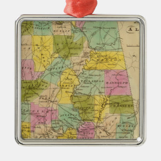 Map of the State of Alabama Christmas Ornament