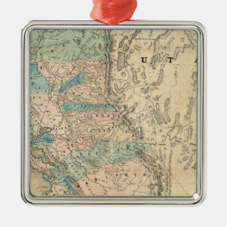 Map of the State of California Christmas Ornament
