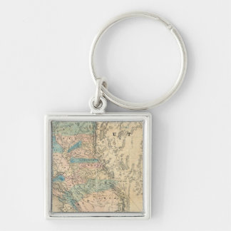 Map of the State of California Key Ring