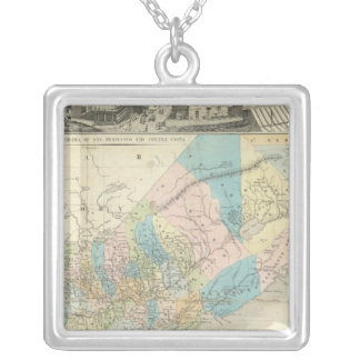Map Of The State Of California Silver Plated Necklace