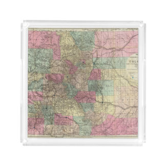 Map of the State of Colorado Acrylic Tray