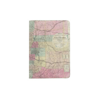 Map of the State of Colorado Passport Holder