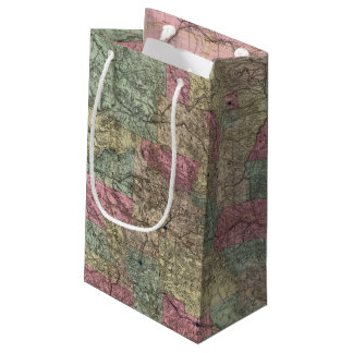 Map of the State of Colorado Small Gift Bag