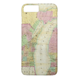 Map of the State of Michigan iPhone 8 Plus/7 Plus Case