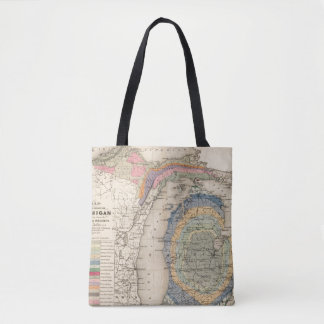 Map of the State of Michigan Tote Bag