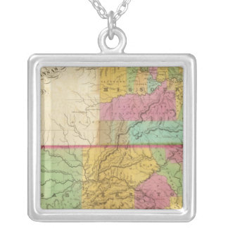 Map of the State of Missouri Silver Plated Necklace
