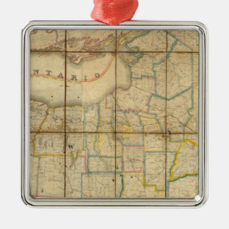Map of the State of New York Christmas Ornament