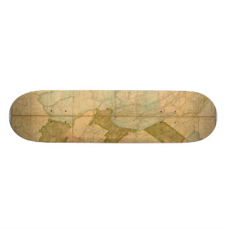 Map of the State of Pennsylvania in 1792 Skate Decks