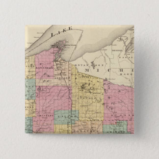 Map of the State of Wisconsin 15 Cm Square Badge