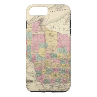 Map of the State of Wisconsin iPhone 7 Plus Case