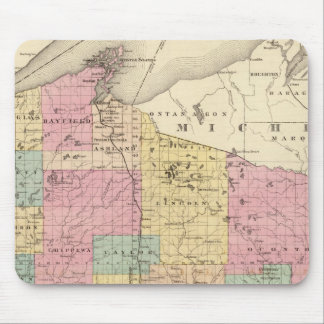 Map of the State of Wisconsin Mouse Mat