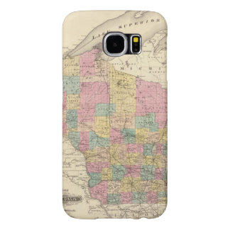 Map of the State of Wisconsin Samsung Galaxy S6 Cases