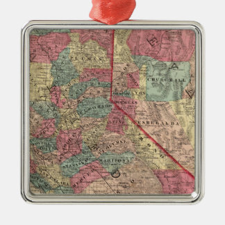Map of the States of California and Nevada Christmas Ornament