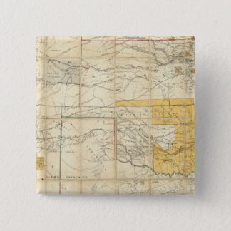 Map Of The States Of Kansas And Texas 15 Cm Square Badge