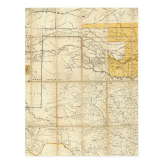 Map Of The States Of Kansas And Texas Post Card