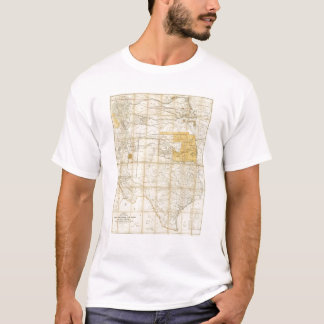 Map Of The States Of Kansas And Texas T-Shirt
