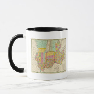 Map of the States Of Ohio Indiana & Illinois Mug