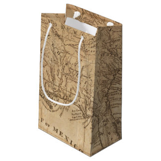 Map of the States of Virginia and North Carolina Small Gift Bag
