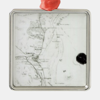 Map of the Suez Canal, c.1869 Christmas Ornament