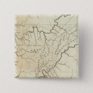 Map of The Tennassee sic Government 15 Cm Square Badge