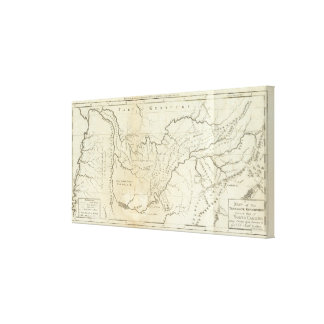 Map of The Tennassee sic Government Canvas Print