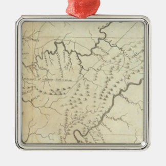 Map of The Tennassee sic Government Christmas Ornament