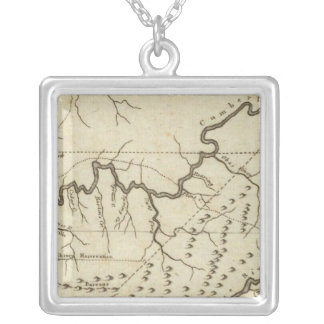 Map of the Tennassee sic Government Silver Plated Necklace