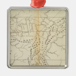 Map of The Tennessee Christmas Ornament