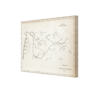 Map of the Tennessee Government Canvas Print