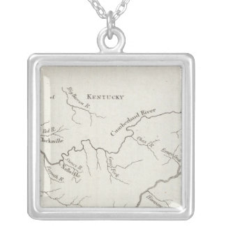 Map of the Tennessee Government Silver Plated Necklace