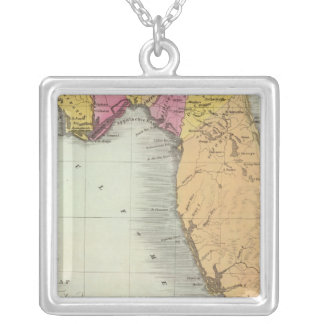 Map of the Territory of Florida 2 Silver Plated Necklace