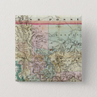 Map Of The Territory Of Montana 15 Cm Square Badge