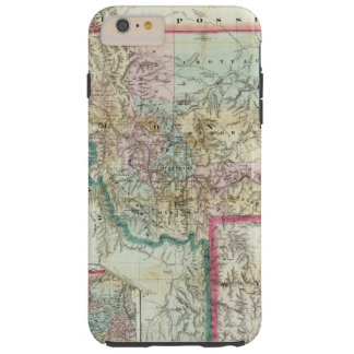 Map Of The Territory Of Montana Tough iPhone 6 Plus Case