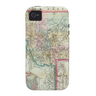 Map Of The Territory Of Montana Vibe iPhone 4 Cases