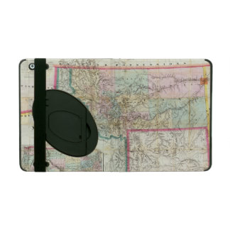 Map Of The Territory Of Montana iPad Case