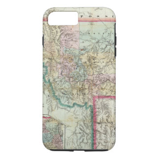 Map Of The Territory Of Montana iPhone 7 Plus Case