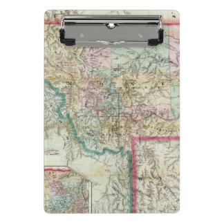 Map Of The Territory Of Montana Mini Clipboard