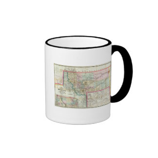 Map Of The Territory Of Montana Ringer Mug