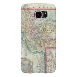 Map Of The Territory Of Montana Samsung Galaxy S6 Cases