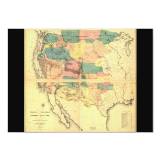 Map of the Territory of the United States (1858) 5x7 Paper Invitation Card
