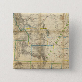Map Of The Territory Of The United States 2 15 Cm Square Badge