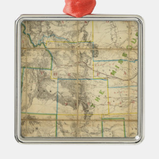 Map Of The Territory Of The United States 2 Christmas Ornament