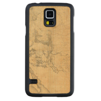 Map of The Territory of The United States Carved Maple Galaxy S5 Case