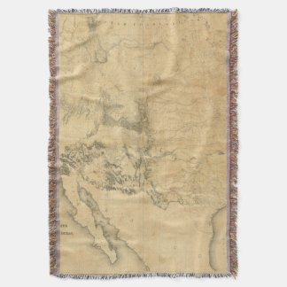 Map of The Territory of The United States Throw Blanket