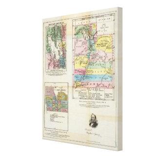 Map of the Territory of Utah Canvas Print